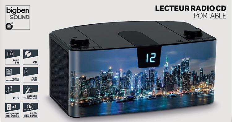 Radio Lettore CD portatile Bluetooth®  NY by night - Immagine #5