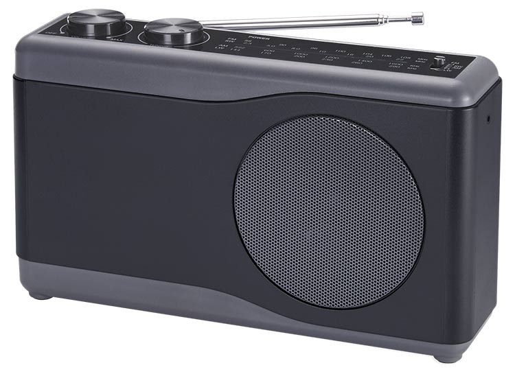 Portable radio (black) - Packshot