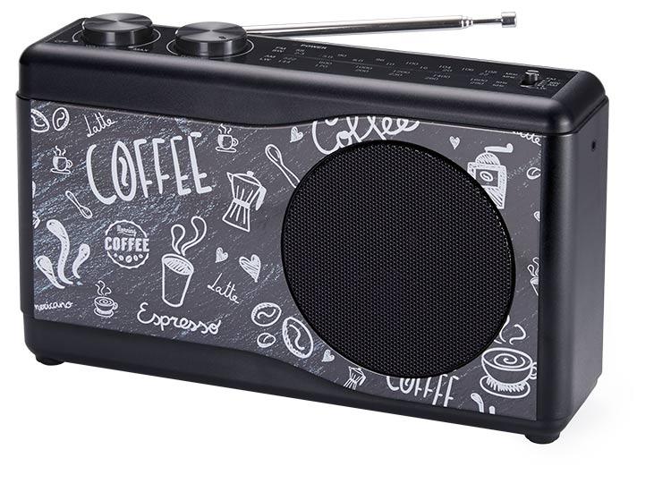 Portable radio (coffee) - Packshot