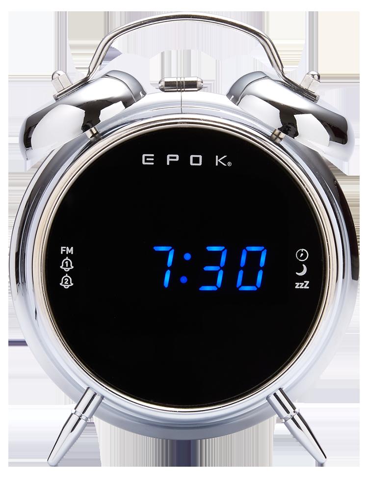 Dual alarm clock (silver) RR90EPOKN EPOK® BIGBEN - Packshot