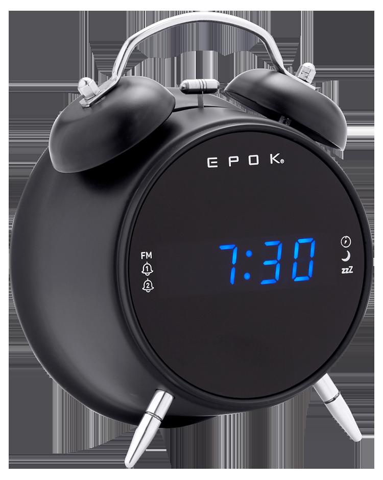 Dual alarm clock (black) RR90EPOKN EPOK® BIGBEN - Immagine
