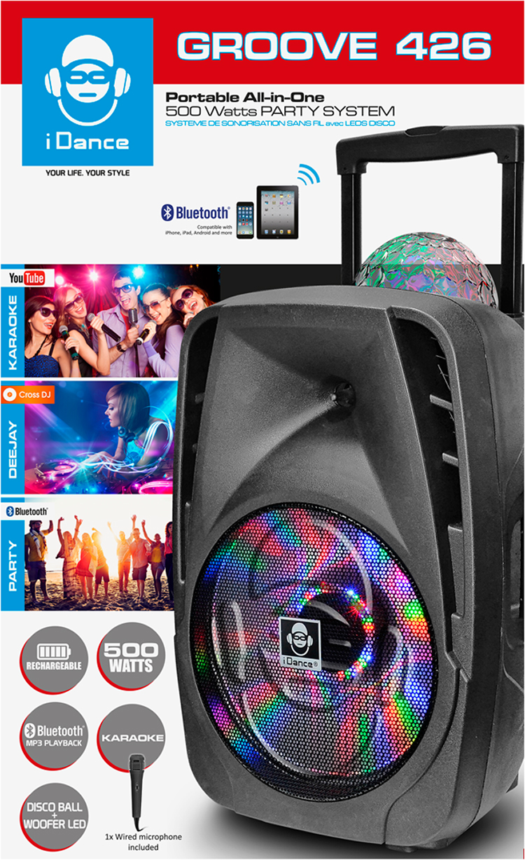 Bluetooth sound and light system GROOVE426 I DANCE - Immagine#1