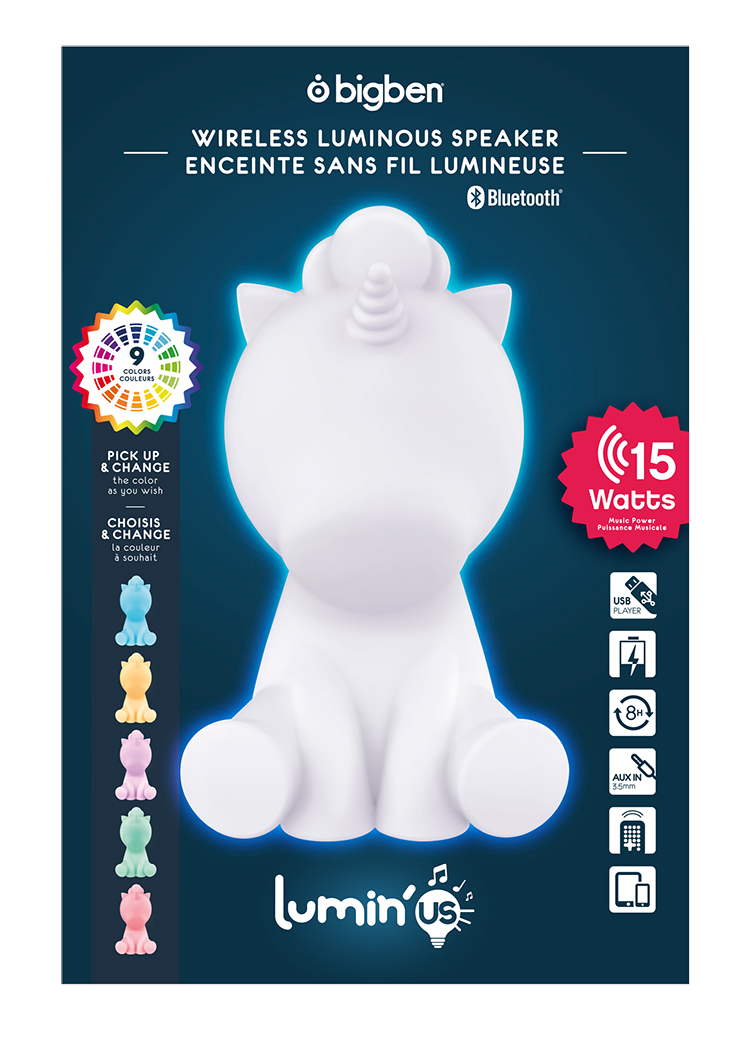 Wireless Luminous speaker Lumin'us (unicorn) BTLSUNICORN BIGBEN - Immagine#2tutu#4tutu#6tutu#8tutu#10tutu#12tutu#14tutu