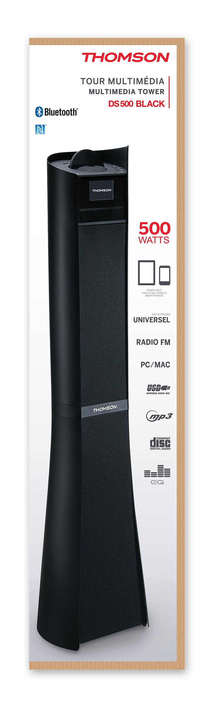 2.1CH Multimedia tower DS500BLACK THOMSON - Immagine#2tutu