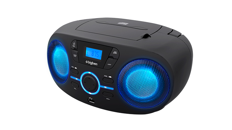 Portable CD/USB player with light effects CD61NUSB BIGBEN - Immagine