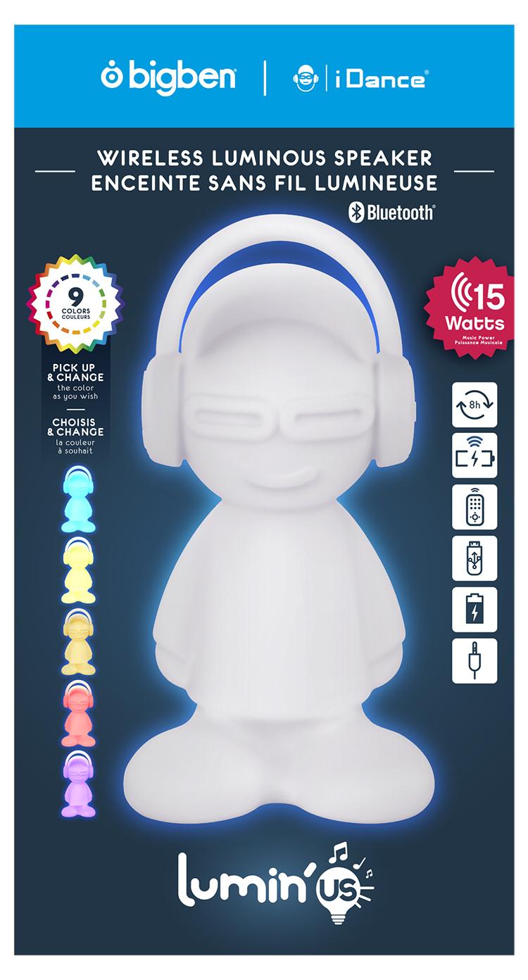 Wireless luminous speaker BTLSDUDE BIGBEN - Immagine#2tutu#4tutu#6tutu#8tutu#9