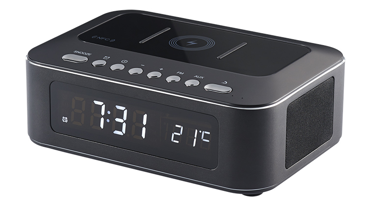 Clock radio with wireless charger CR400IBT THOMSON - Immagine