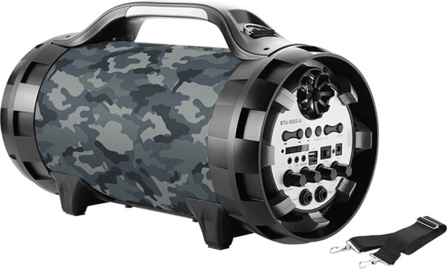 Wireless Ghetto Blaster with lights BT50ARMY BIGBEN - Packshot