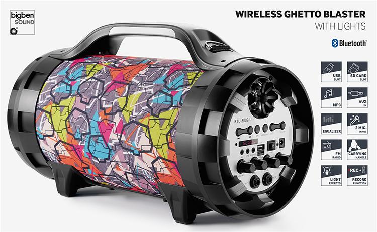 Wireless Ghetto Blaster with lights BT50GRAFF BIGBEN - Immagine#2tutu#4tutu#5