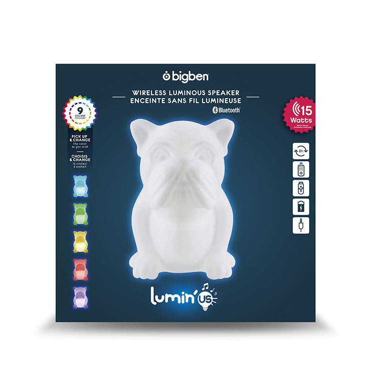 Wireless luminous speaker BTLSDOG BIGBEN - Immagine#2tutu#4tutu#6tutu#8tutu#10tutu#11