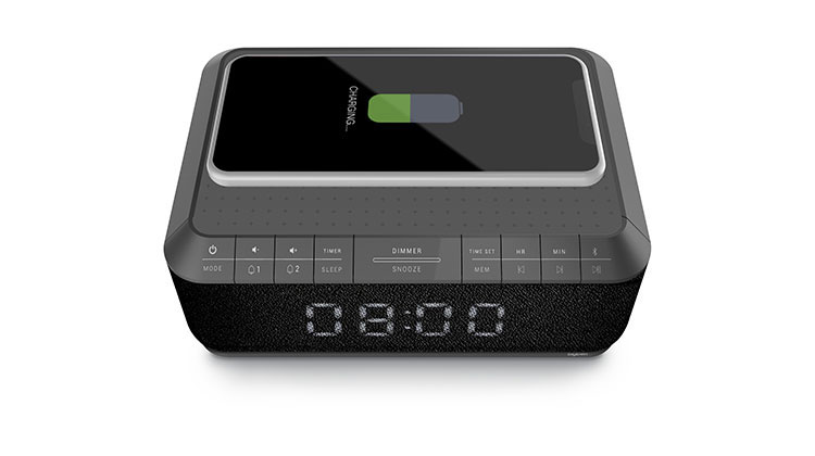 Clock radio with wireless charger RR140IG BIGBEN - Immagine#1