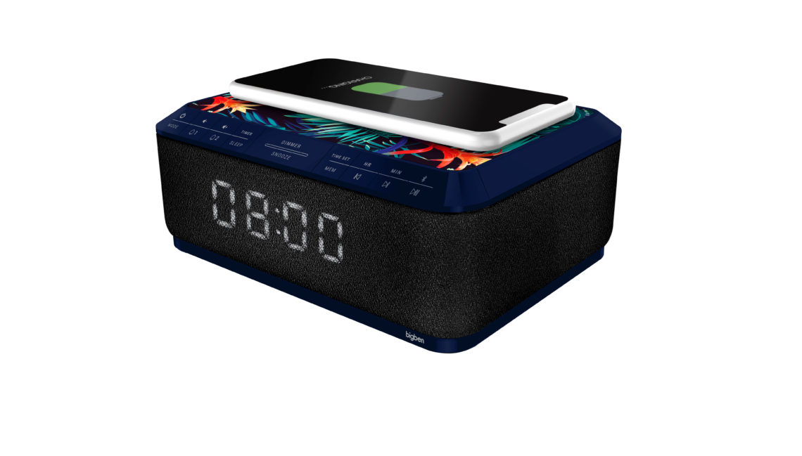 Clock radio with wireless charger RR140IJUNGLE BIGBEN - Immagine#1
