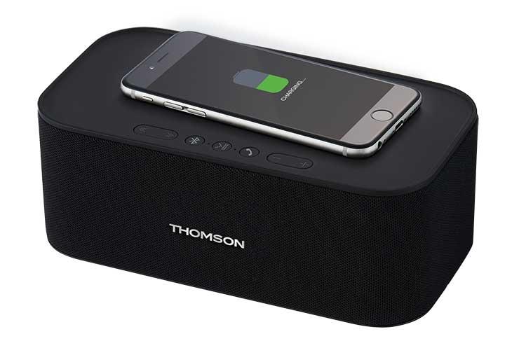 Wireless speaker and wireless charging WS06IPB - Immagine