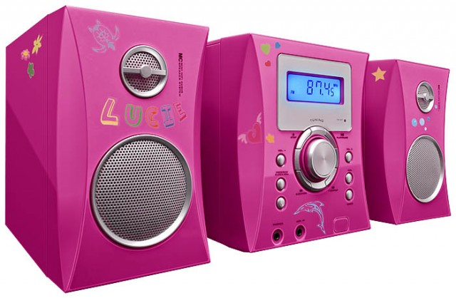 MCD04 Hi-Fi System + Stickers (Pink) - Packshot