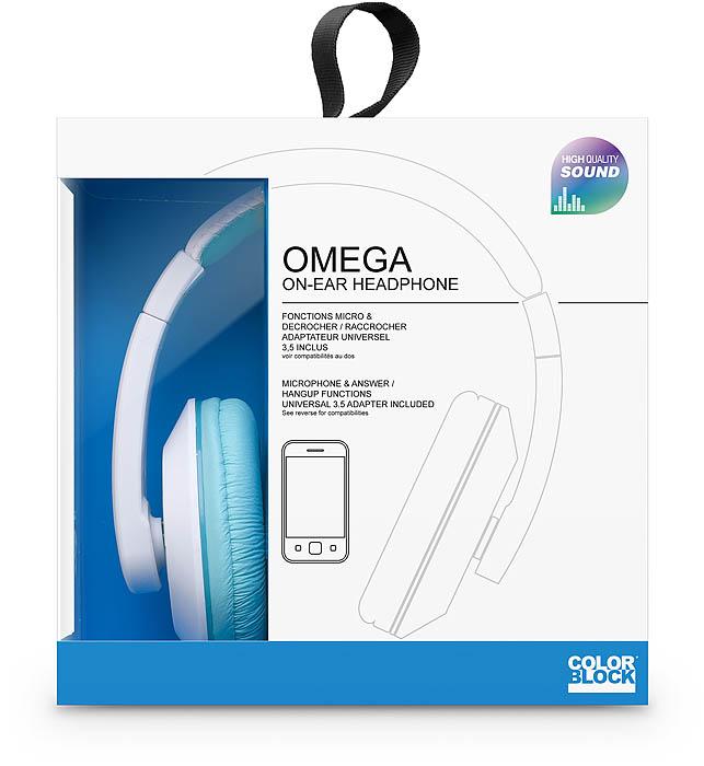 Colorblock Omega Headset (Blue + White) - Image