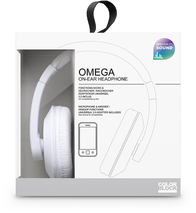 Colorblock Omega Headset (White) - Image