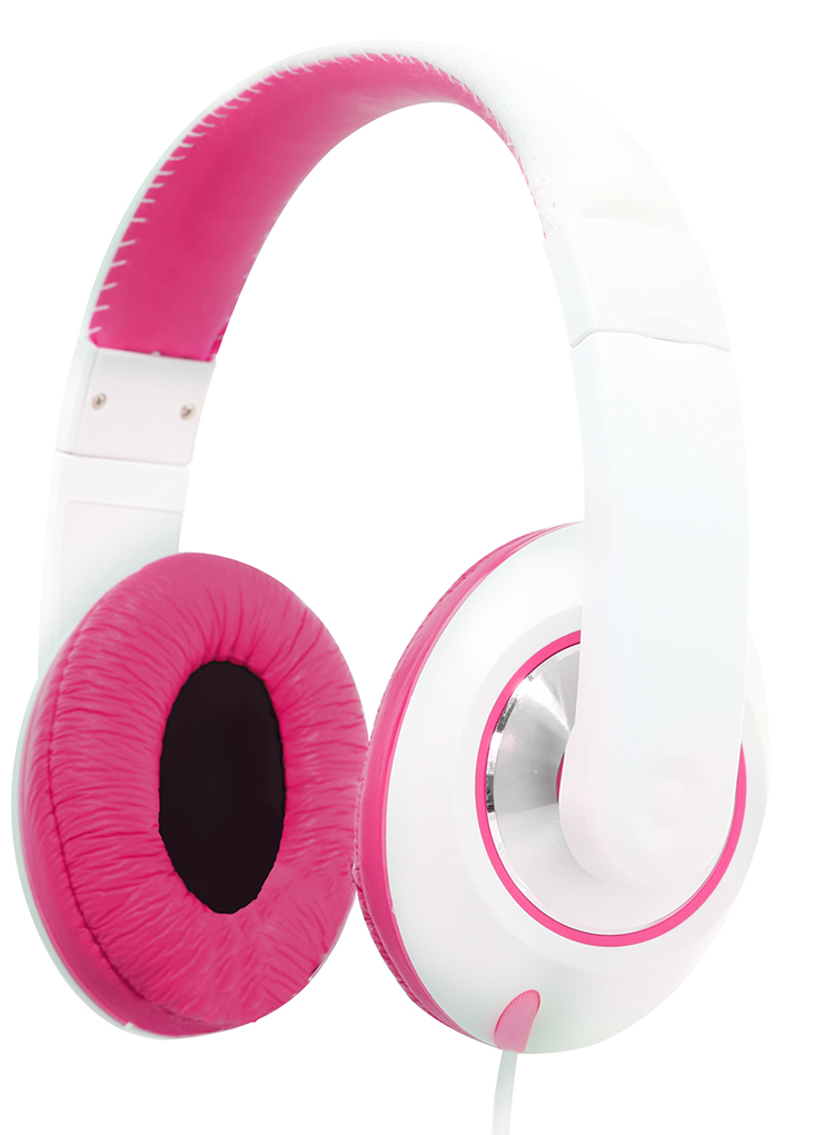 Colorblock Omega Headset (Pink + White) - Image   #1