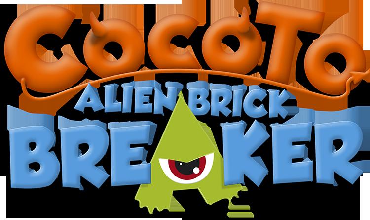 Cocoto Alien Brick Breaker - Logo