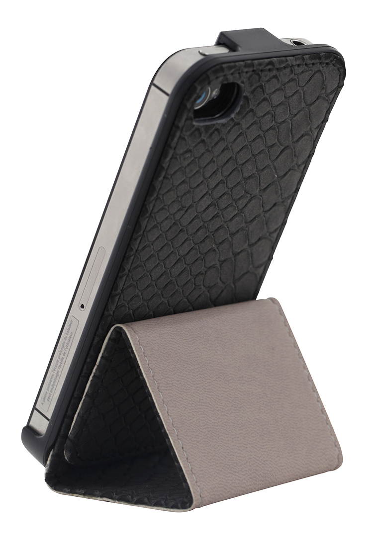 Flip case for iPhone® 4/4S (Grey) - Image   #1