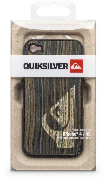 Quiksilver brown wood hard case for iPhone® 4/4S - Image