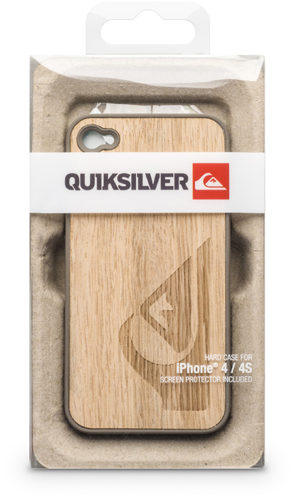 Quiksilver clear wood hard case for iPhone® 4/4S - Image