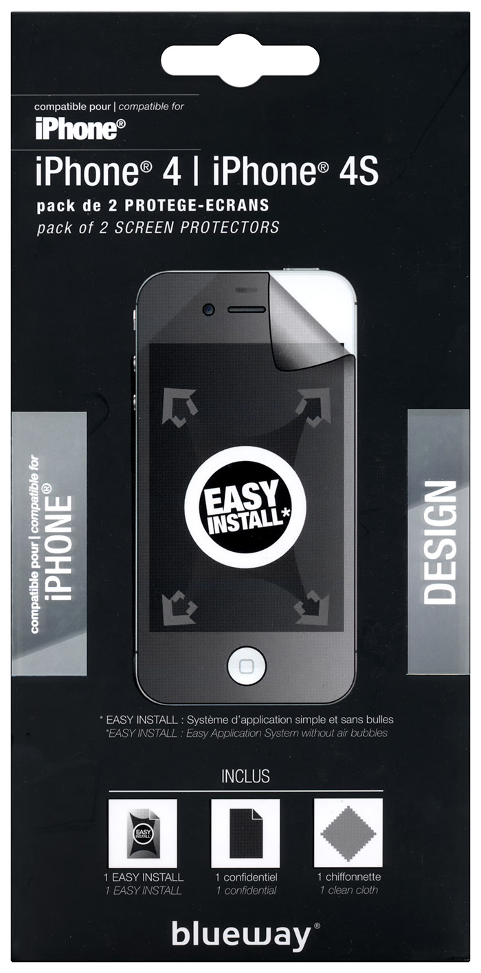 Confidential scree protector for iPhone® 4/4S - Image