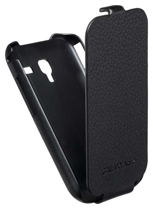 Leather flap case for Samsung® Galaxy Ace 2 (Black) - Packshot