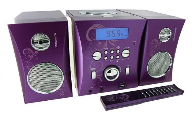 "Micro stereo system ""Violette"" – Packshot"