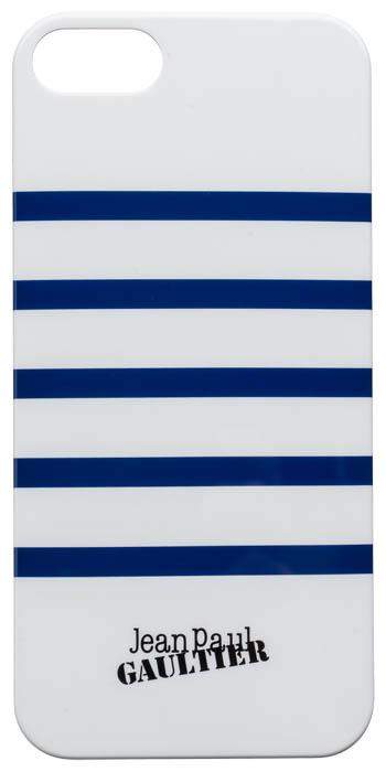 "Back cover ""Marinière"" Jean Paul Gaultier (white & navy) - Packshot"
