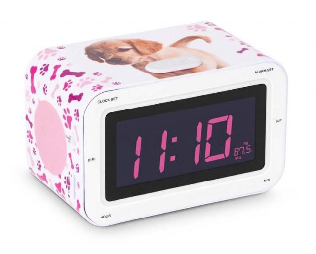 "Radio alarm clock ""Puppy"" - Packshot"