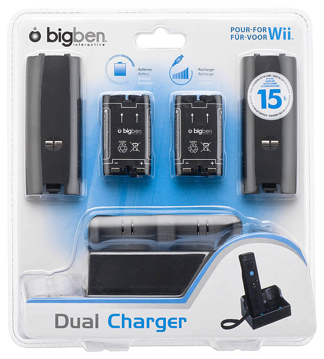 Dual Charger for Wii™ (Black) - Packshot