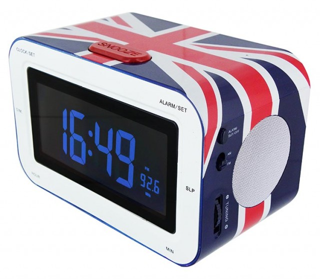 "Radio Alarm Clock ""United Kingdom"" - Packshot"