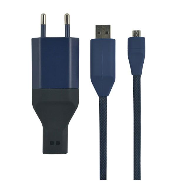 Ora ïto Micro USB Charger Mïcha + Caröl  (Blue) - Packshot