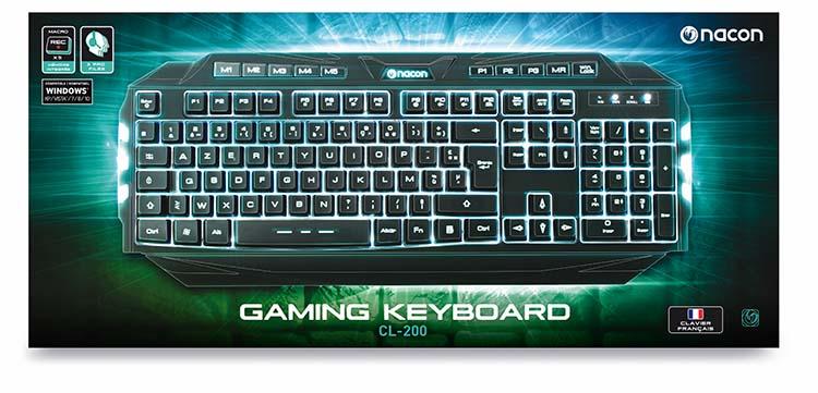 NACON Gaming keyboard with macro keys and backlighting - Image   #1