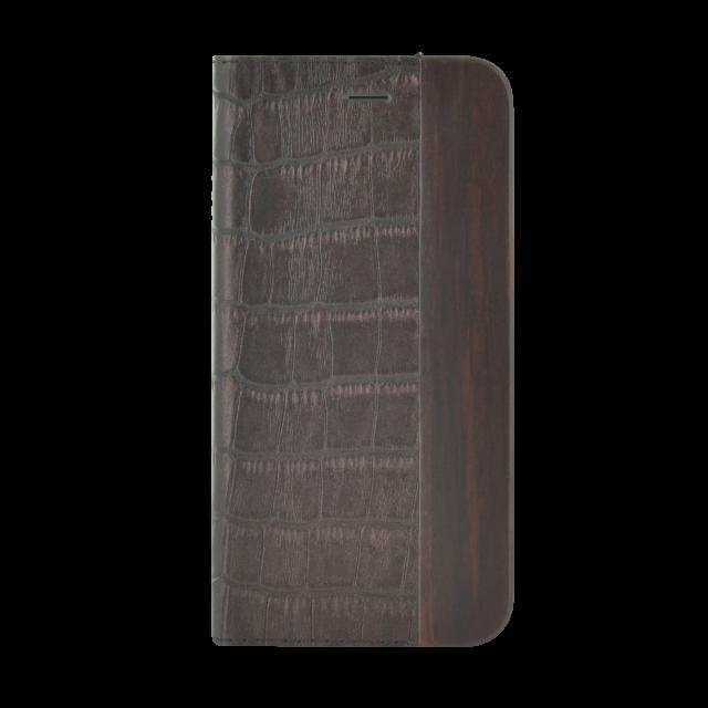 Folio Case Bi-material Wood & Croco - Packshot