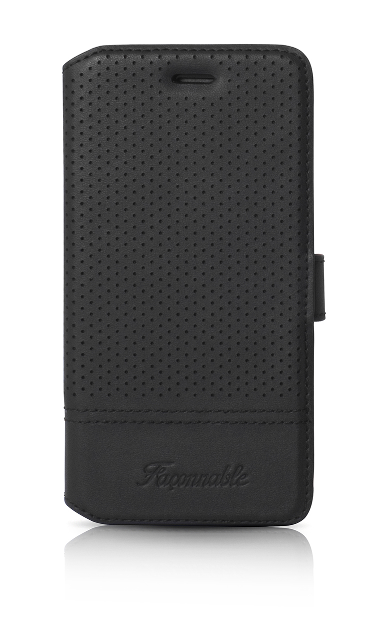 FACONNABLE Folio Case 'Perforated' (Black) - Packshot