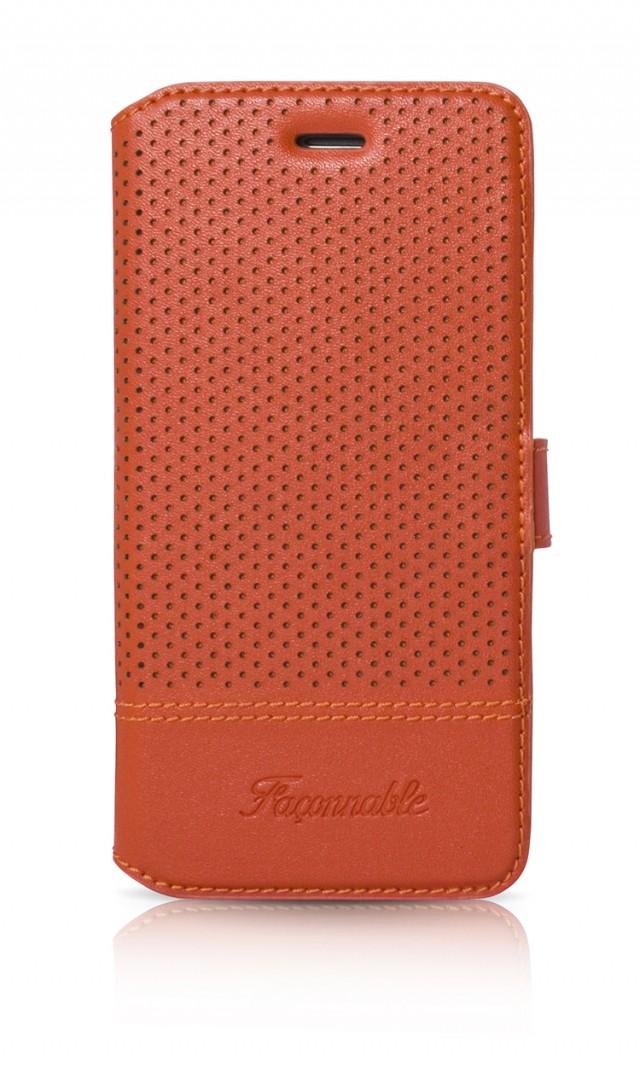 FACONNABLE Folio Case 'Perforated' (Orange) - Packshot