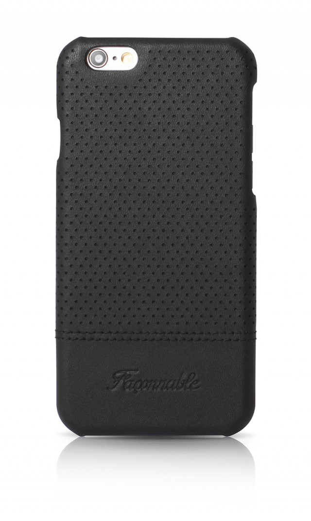 FACONNABLE Hard Case 'Micro-perforated' (Black) - Packshot