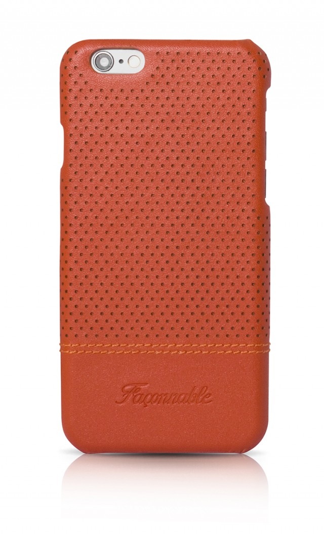 FACONNABLE Hard Case 'Micro-perforated' (Orange) - Packshot