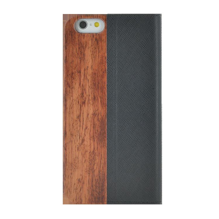 Folio Case Bi-material Wood & Leather - Image