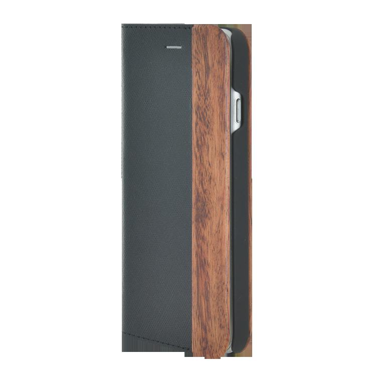 Folio Case Bi-material Wood & Leather - Image   #1