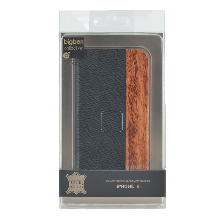 Folio Case Bi-material Wood & Leather - Image   #4