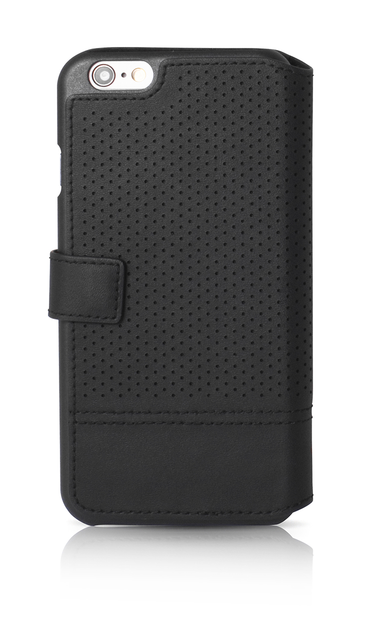 FACONNABLE Folio Case 'Perforated' (Black) - Image