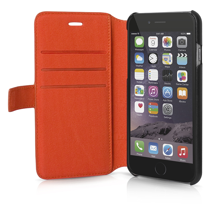 FACONNABLE Folio Case 'Perforated' (Orange) - Image   #1