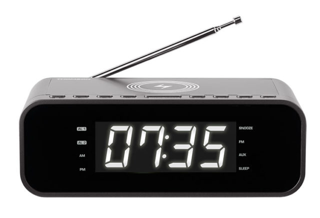 Clock radio with wireless charger CR225I THOMSON - Packshot