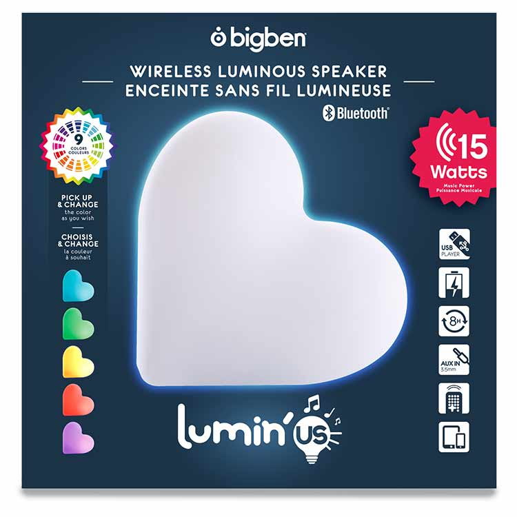 Wireless Luminous speaker Lumin'us (heart) - Image  #2tutu