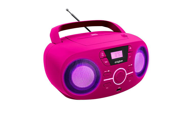 Portable CD/USB player with light effects CD61RUSB BIGBEN - Image