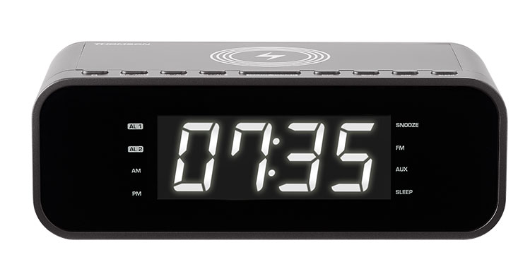 Clock radio with wireless charger CR225I THOMSON - Image
