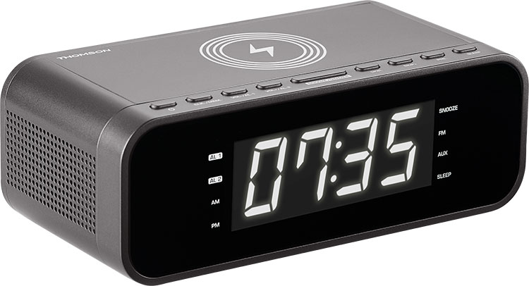 Clock radio with wireless charger CR225I THOMSON - Image  #1