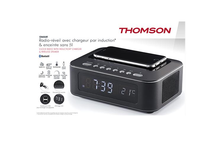 Clock radio with wireless charger CR400IBT THOMSON - Image  #2tutu#4tutu#5